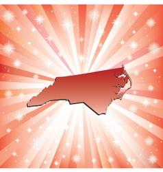 Red North Carolina vector image