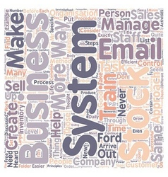 Business systems what are they text background vector image vector image
