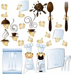cook and hands vector image