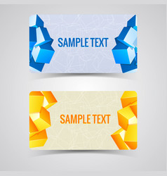 two abstract banner set vector image vector image