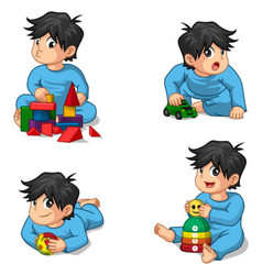 Babies Playing Toys vector image