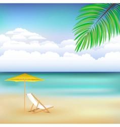 beach scene vector image