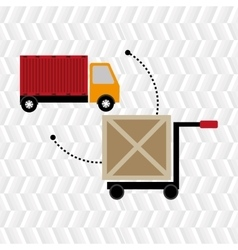 car hand box cargo vector image vector image