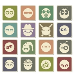 Emotions and glances icons set vector image