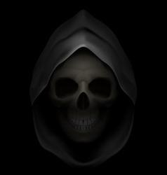 Flaming Skull death 05 vector image vector image