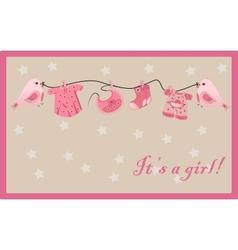 girl greeting card vector image