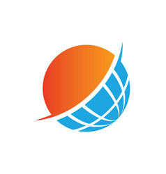 globe sphere earth blue logo image vector image