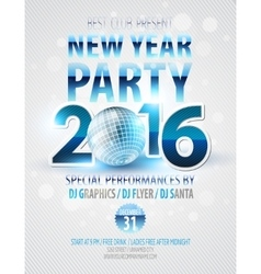 Happy New Year party poster template vector image vector image