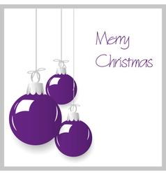 shiny purple color christmas decoration baubles vector image vector image