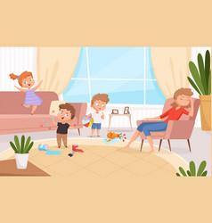 active kids games in living room hyperactive vector image