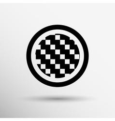 Apps metal-carbon icon carbon fiber black vector