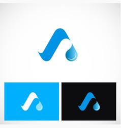 Aqua letter a logo vector