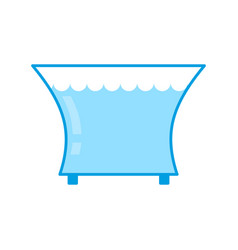 aquarium empty isolated glass vessel with water vector image vector image