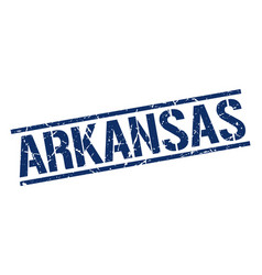 arkansas blue square stamp vector image