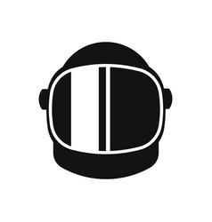 Astronaut helmet equipment icon isolated on white vector