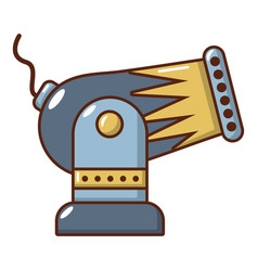battle cannon icon cartoon style vector image