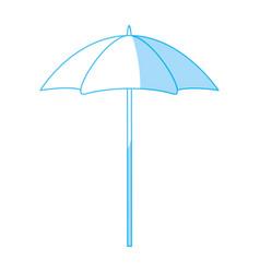 Beach umbrella isolated vector