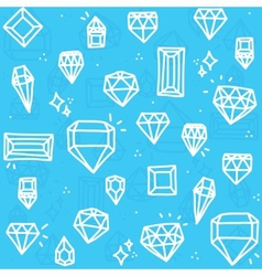 Blue diamonds vector image
