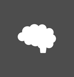 Brain icon on dark background vector