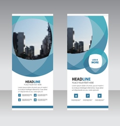 Business Roll Up Banner flat design template Abst vector image