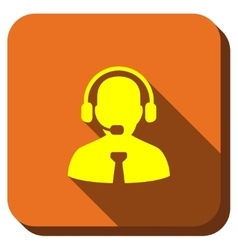 Call Center Operator Longshadow Icon vector