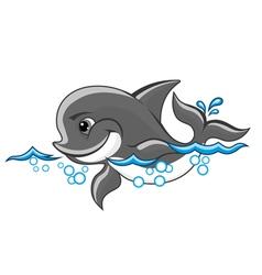 Cartoon dolphin vector
