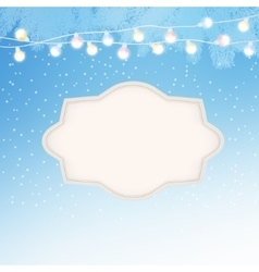 Christmas New Year greeting card invitation with vector image