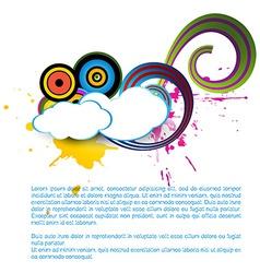 cloud art vector image