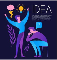 creating idea people brainstorm task and vector image