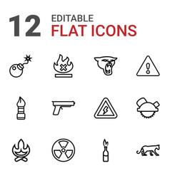 dangerous icons vector image