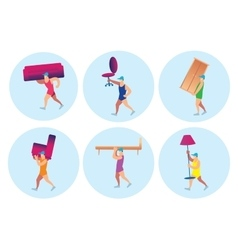 Delivery of furniture vector