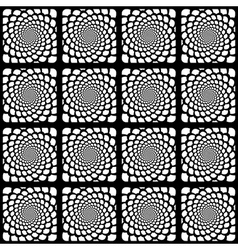 Design seamless monochrome spiral pattern vector image