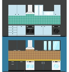 Different kitchen composition vector