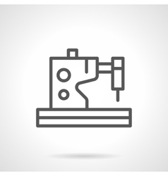 Electric sewing machines black line icon vector image
