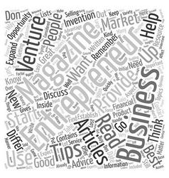 Entrepreneur Magazine l 1 text background vector