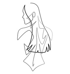 female figure continuous line graphic vector image
