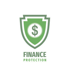 finance protection - logo design business vector image