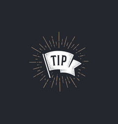 flag tip old school flag banner with text vector image