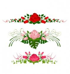 Floral wreathes vector