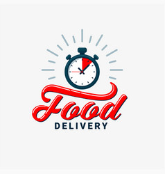 Food delivery design eps10 vector