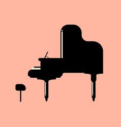 grand piano musical instrument in trend modern vector image