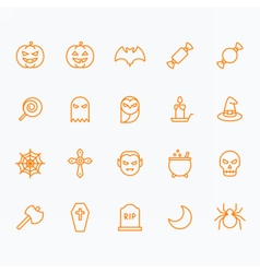 Halloween icons for web and mobile vector image