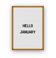 hello january motivation quote on white vector image
