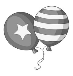 independence day balloons icon monochrome vector image