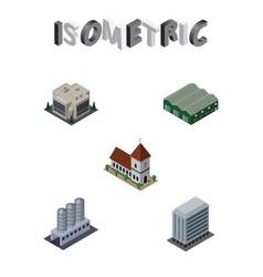 isometric urban set of company water storage vector image