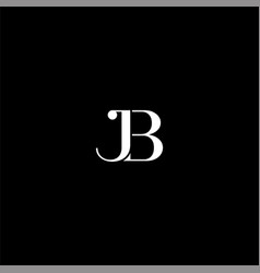 J b letter logo abstract design on black color vector