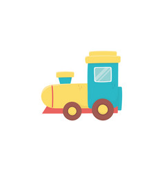 kids toy plastic train wagon object icon vector image