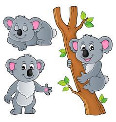 Koala theme collection 1 vector