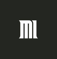 Letter m and number 1 - logo monogram template vector