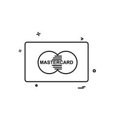 Master card icon design vector